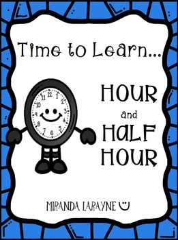 Telling Time to Hour and Half Hour on a Digital and Analog Clock