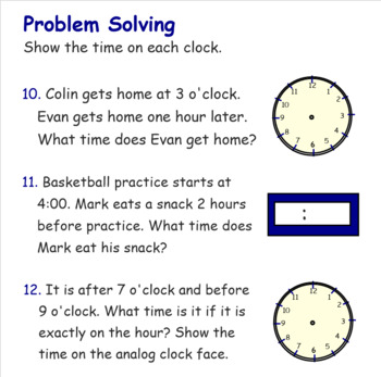 Telling Time to Hour and Half Hour SMARTboard Lesson