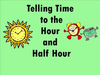 Telling Time to Hour and Half Hour - Smartboard