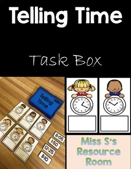 Telling Time to Nearest 5 Minutes Task Box