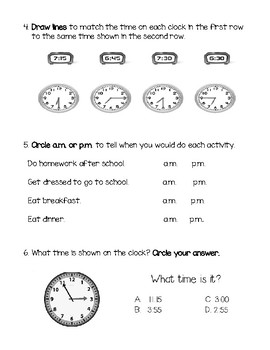 Telling Time to Nearest 5 Minutes