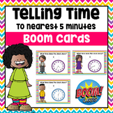 Telling Time (to Nearest 5 Minutes) Digital Boom Cards | D