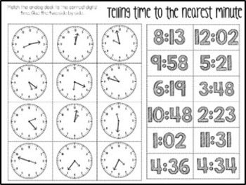 Telling Time & Elapsed Time