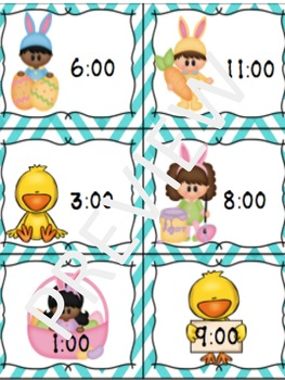 Telling Time to The Hour Activities Easter Theme