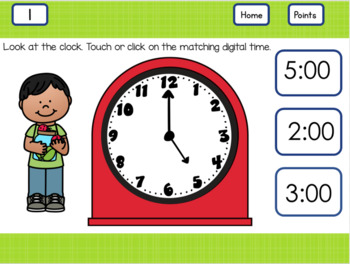 Telling Time to and Half Past the Hour  Kids and Ladybugs  First Grade