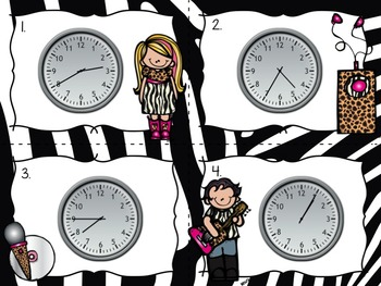 Telling Time to the 5 Minutes - 3 Game Set + Printables
