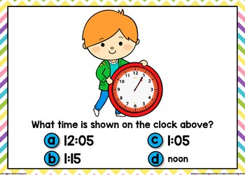 Telling Time Boom Cards (5 Minute Intervals)