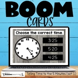 Telling Time to the 5 Minutes Set 1 Boom Cards Distance Learning