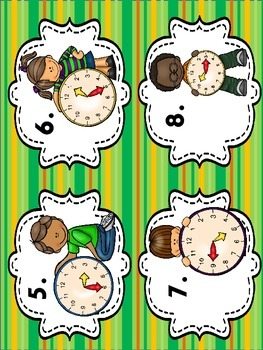 Tell Time to the 5 Minutes-Math Center