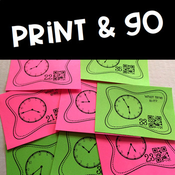 Telling Time to 5 Minutes Task Cards