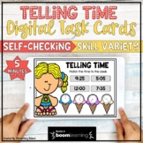 Telling Time to the 5 minutes for Digital BOOM Cards | Distance Learning
