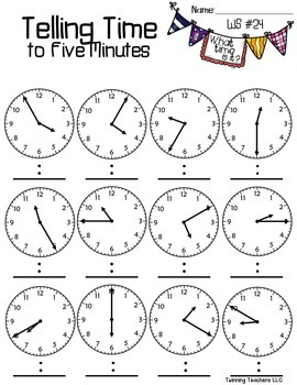 Telling Time to the Five Minutes