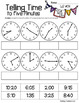 Telling Time to the Five Minutes - Cut & Paste