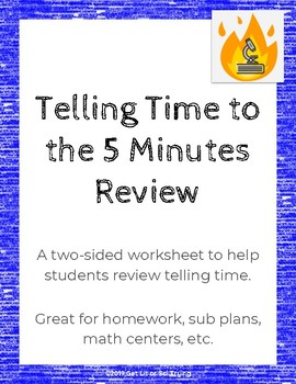 Telling Time to the Five Minutes Unit Review Worksheet