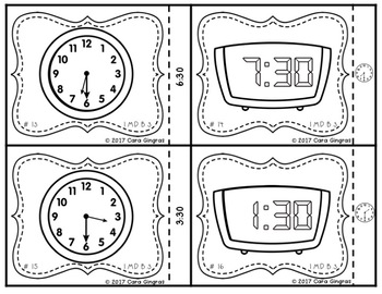 Telling Time to the Half Hour {1st grade} Math Task Cards