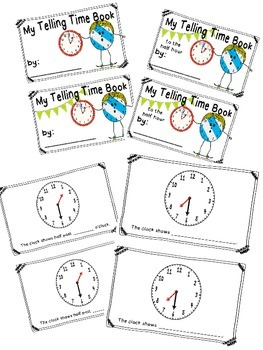 Telling Time to the Half Hour Activity Pack and Book