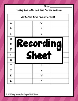 Telling Time to the Half Hour Around the Room