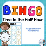 Telling Time to the Half Hour Bingo Game