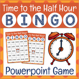 Telling Time to the Half Hour Game Powerpoint Math BINGO