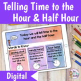 Telling Time to the Half Hour Digital Activities