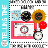Telling Time to the Half Hour Easy For Google Classroom™