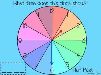 Telling Time to the Half Hour (Great for Google Classroom)