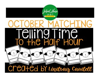 Telling Time to the Half Hour - Halloween
