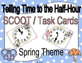 Telling Time to the Half Hour Spring Clock Scoot