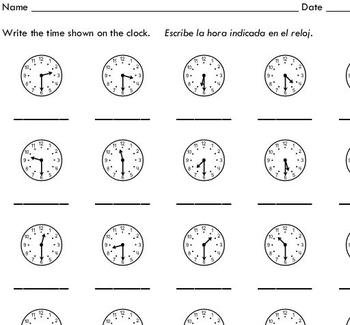 Telling Time to the Half Hour (sample) - by Sinh Trinh