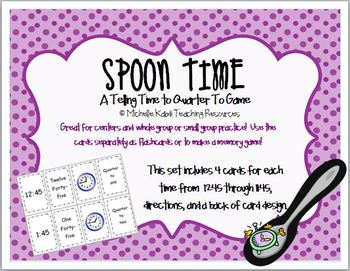 Telling Time to the Hour, 1/2 Hour, Quarter After and Quarter To Game Combo Pack