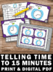 Special Education Telling Time to the Hour Half Hour Fifteen Minutes Task Cards