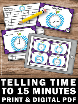 Telling Time Task Cards, Special Education and Autism Resources