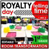 Telling Time to the Hour and Half Hour   1st Grade Royal R