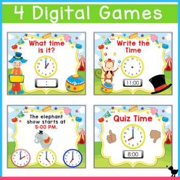 Telling Time to the Hour Smartboard