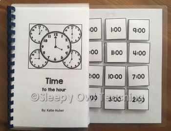 Telling Time to the Hour Adapted Book