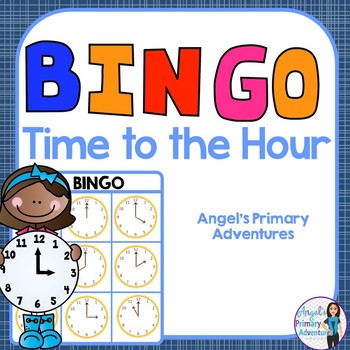 Telling Time to the Hour Bingo Game