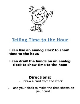 Telling Time to the Hour Center