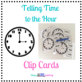 Telling Time to the Hour Clip Cards for Elementary and Spe