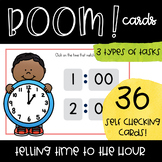 Telling Time to the Hour -- Digital Boom Task Cards