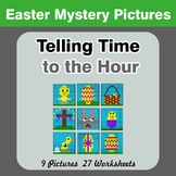 Telling Time to the Hour - Easter Math Mystery Pictures