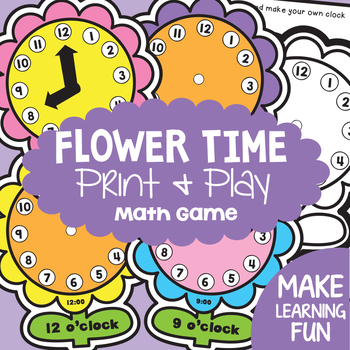 Telling Time to the Hour - Flower Time