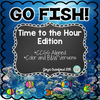 Telling Time to the Hour Go Fish Game