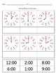 Telling Time to the Hour&Half Hour Worksheet (Cut & Paste)