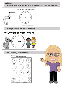 Telling Time to the Hour Interactive Story
