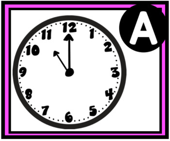 Telling Time to the Hour Math Task Cards