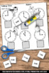 Special Education Telling Time to the Hour, Cut and Paste Worksheets, Glue