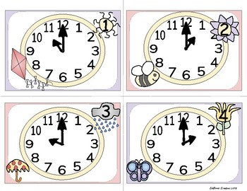 Telling Time to the Hour Spring Clock SCOOT