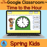 Telling Time to the Hour Spring Theme for Google Classroom