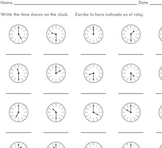 Telling Time to the Hour and Half Hour (10 worksheets) - by Sinh Trinh