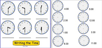 Smartboard: Telling Time to the Hour and Half Hour
